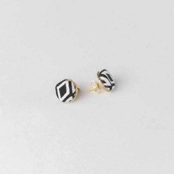 Stecker Silber vergoldet, Mocka, schwarz, Weiß